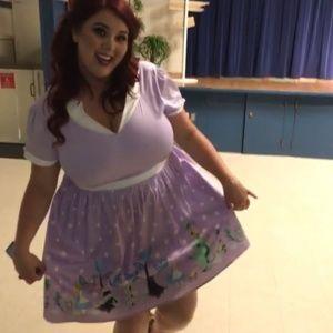 Alice in Wonderland Scene Dress